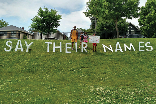 Say their names, black lives matter movement