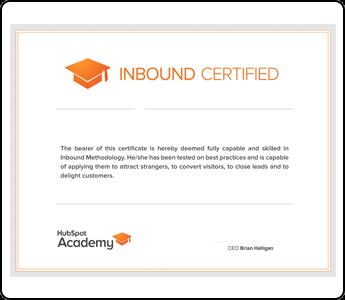 HubSpot's Inbound Certification