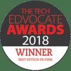 Tech Edvocate Winner Best PR Firm 2018