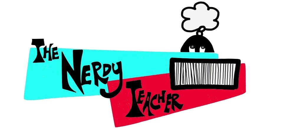 nerdy teacher logo